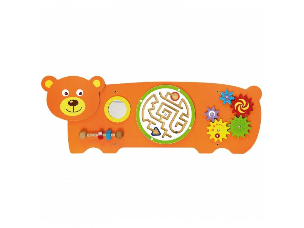 Viga Toys Senzorická manipulačná tabuľa MACKO 2