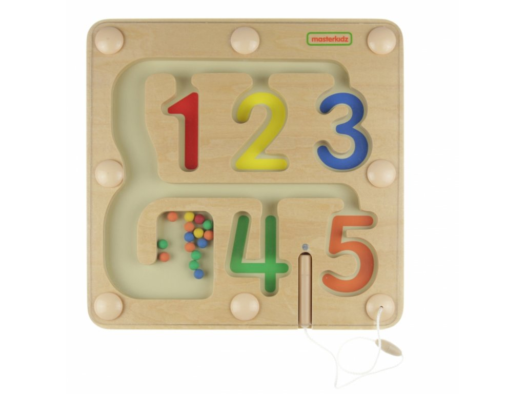 Masterkidz Magnetické bludisko Čísla 1 5 malypretekar (5)