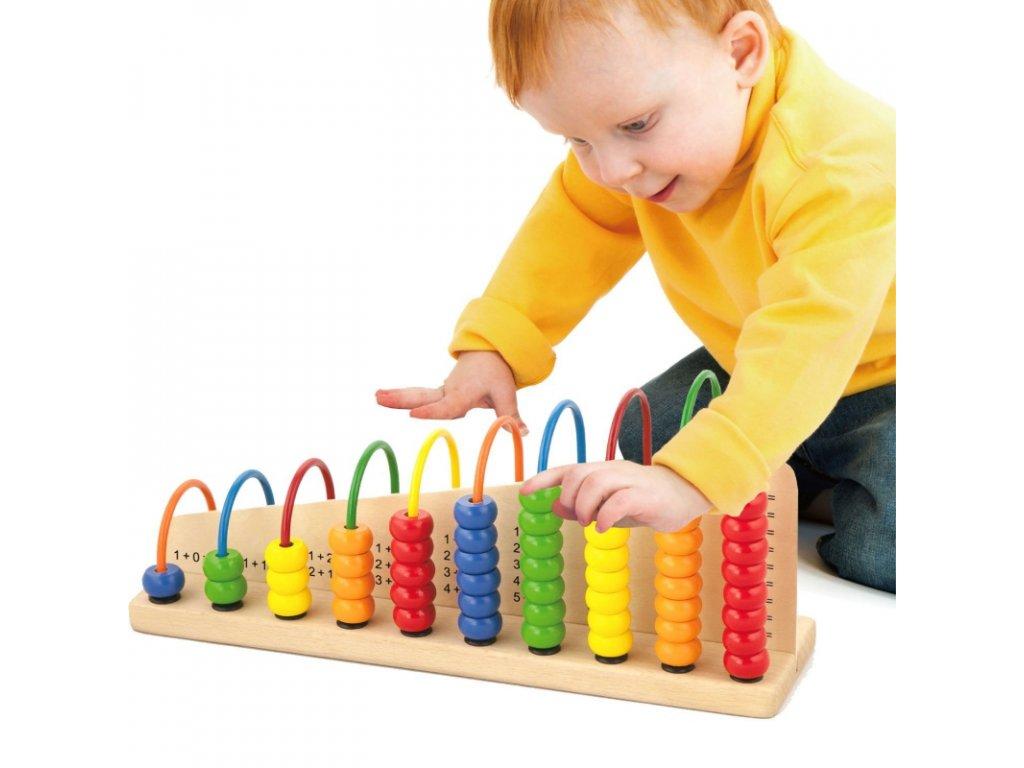 viga toys dwustronne liczydlo drewniane