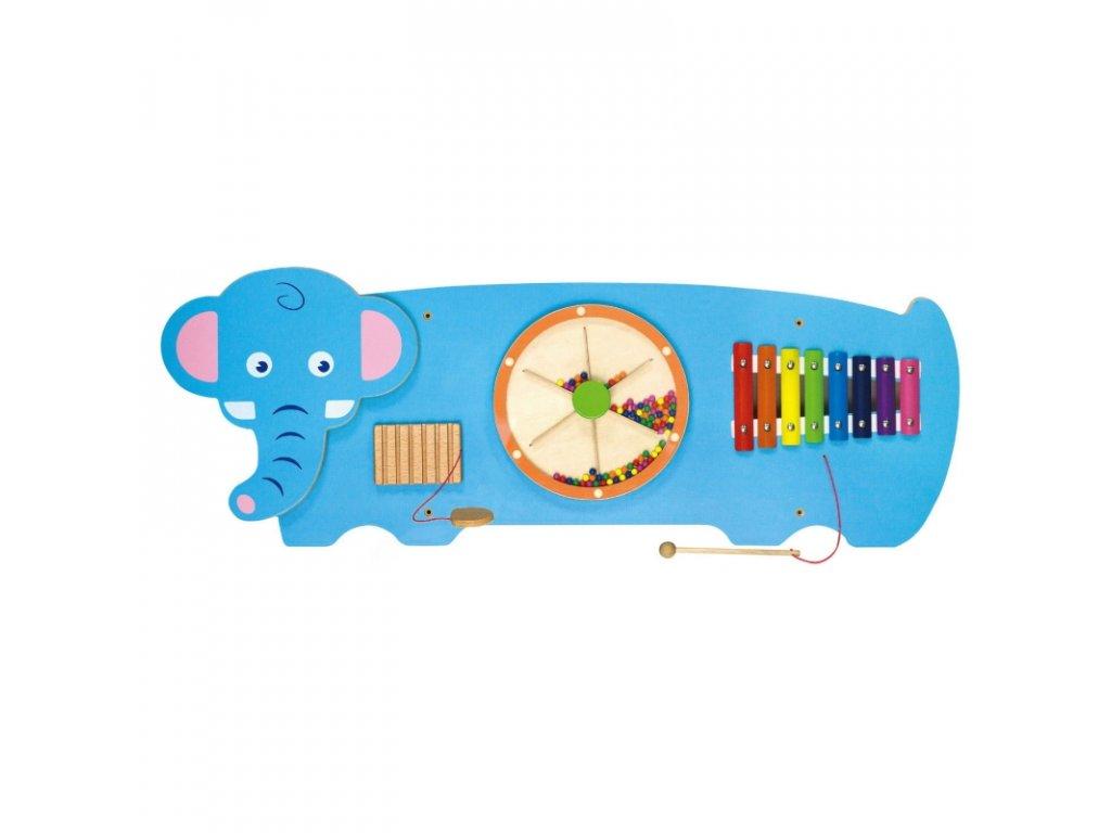 Viga Toys Senzorická manipulačná tabuľa Sloník malypretekar (2)