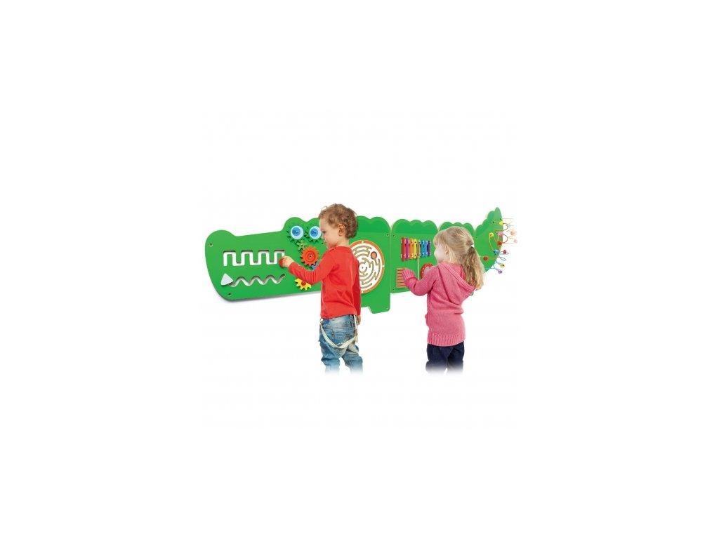 Viga Toys Senzorická manipulačná tabuľa Krokodíl malypretekar (8)