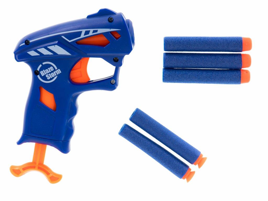 BLAZE STORM Pištoľ + 5 penových nábojov malypretekar (1)