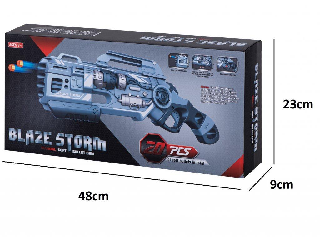 BLAZE STORM Detská puška + 20 penových nábojov malypretekar (7)