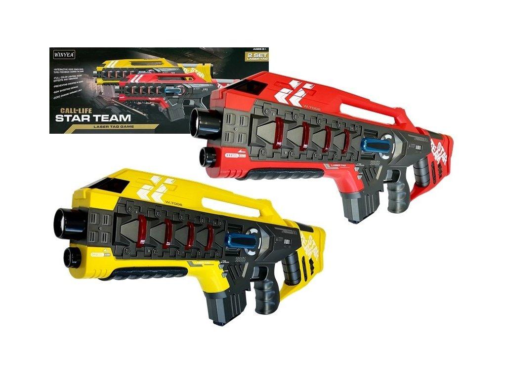 Laser Tag Laserové pištole RED YELLOW malypretekar (2)
