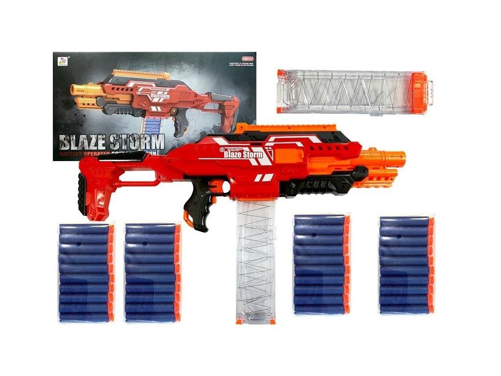 BLAZE STORM Roller Rifle Detská puška so zásobníkom + 40 penových nábojov malypretekar (1)