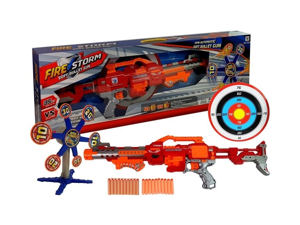 Fire Storm Puška na penové náboje s rotujúcim terčom malypretekar (4)