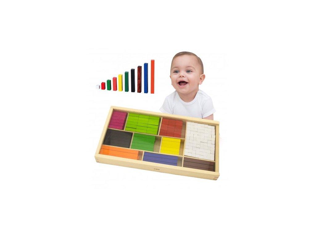 Viga Toys Drevené kocky na počítanie malypretekar (4)