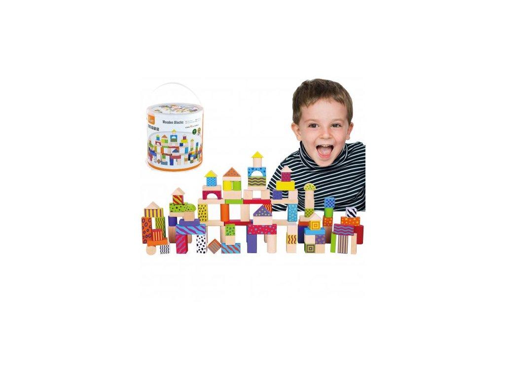 Viga Toys Drevené kocky 100 ks malypretekar (2) malypretekar
