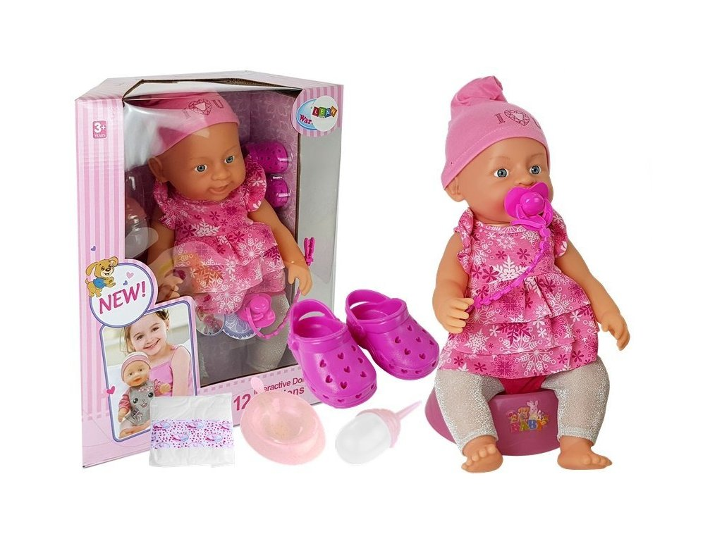 BABY Interaktívna bábika s topánkami, pamperskou a fľaškou (2)