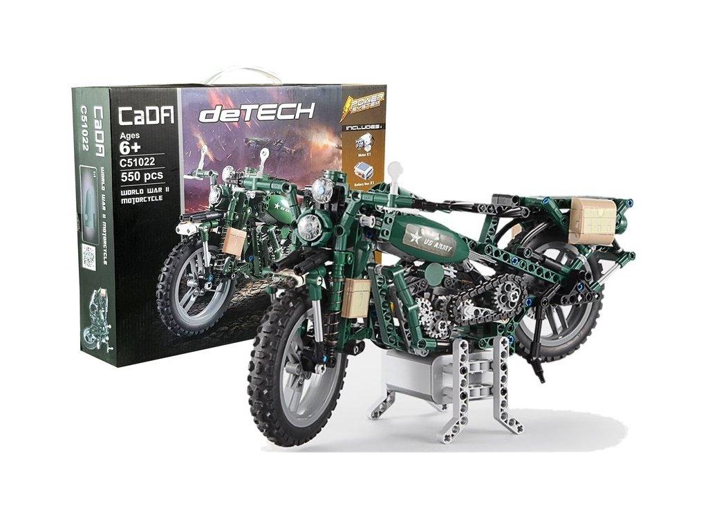 CADA TECHNIC Vojenská motorka MILITARY 550 ks dielov (1)