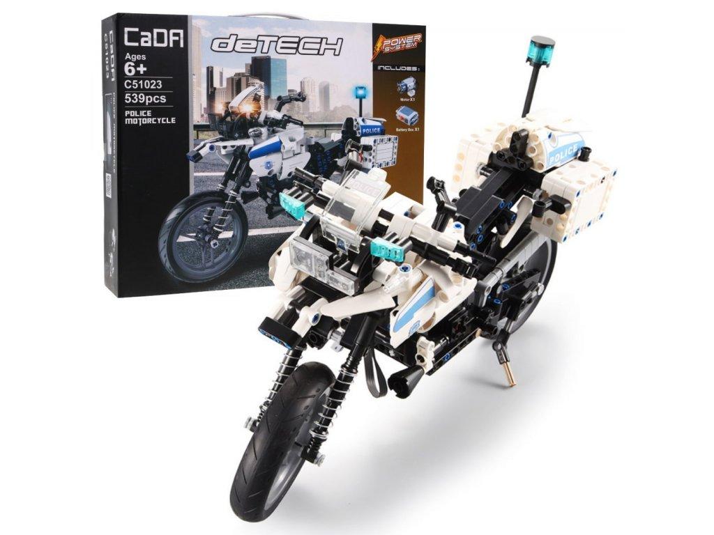RC CADA TECHNIC Motorka Polícia 539 kusov dielov malypretekar hrackarstvo hracky liesek LEGO (1)