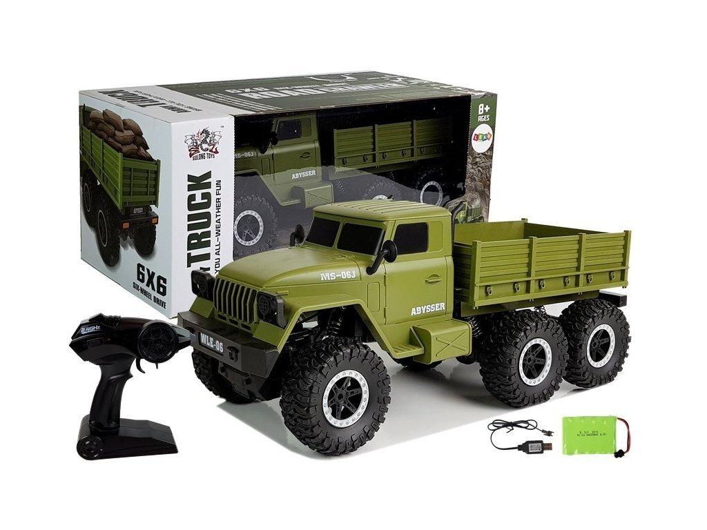 RC Vojenské auto na diaľkové ovládanie 6x6 (1)