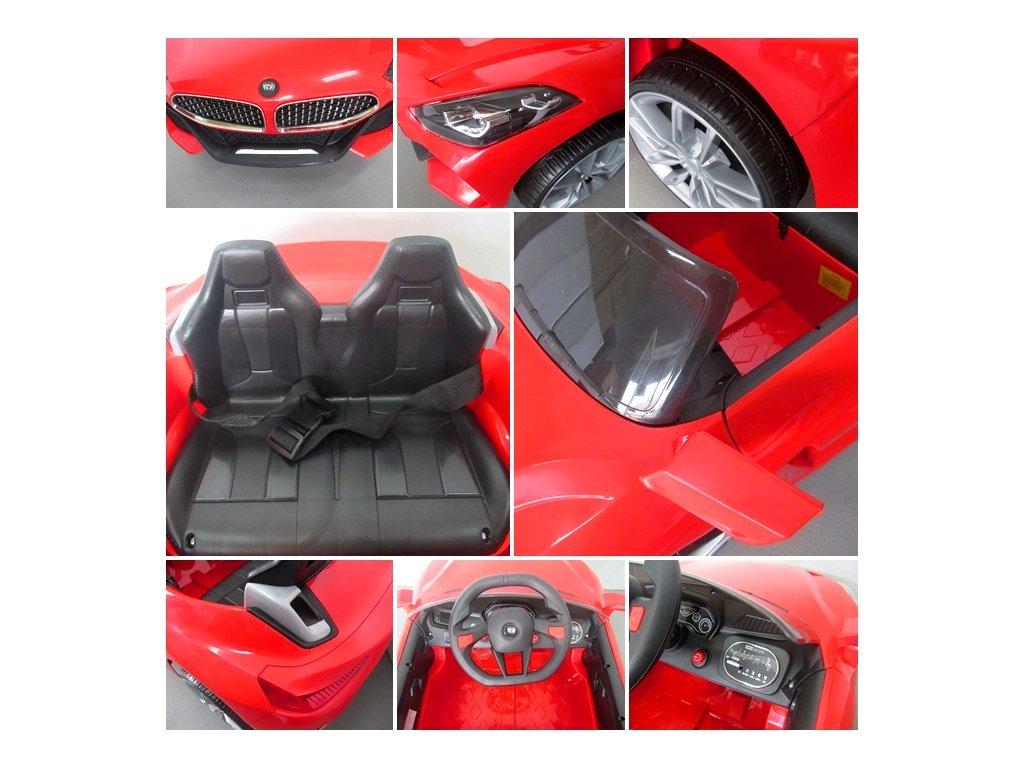 Malypretekar Elektrické auto Cabrio Z4 biele oranžové červené funcia hojdania do 35 kg (18)