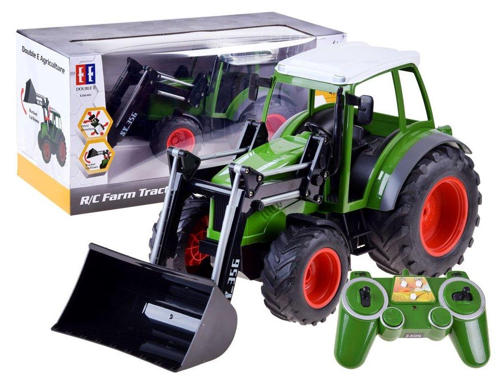 RC Double E Traktor na diaľkové ovládanie s lyžicou 2,4 GHz (1)