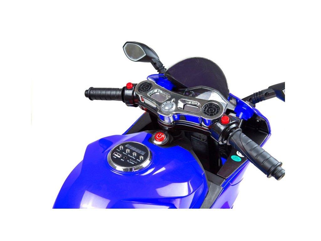Elektrická motorka SX1628 LED svietiace kolesá