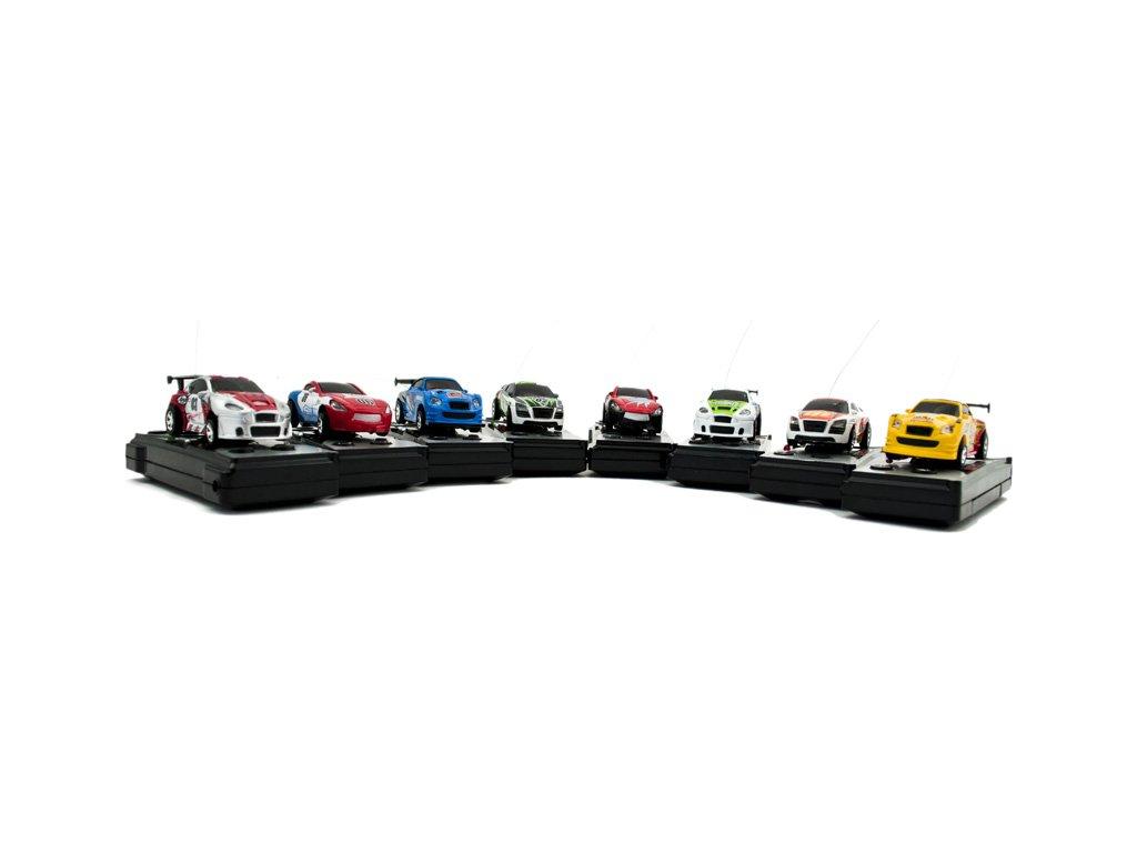 RC Model Mikro Racer 8 cm x 3 cm na diaˇkové ovládanie malypretekar (4)