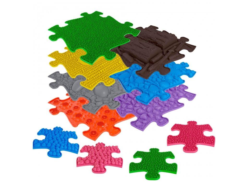 ASKA Senzomotorický koberec pre deti set 7 ks puzzle a 4 ks mini puzzle (2)