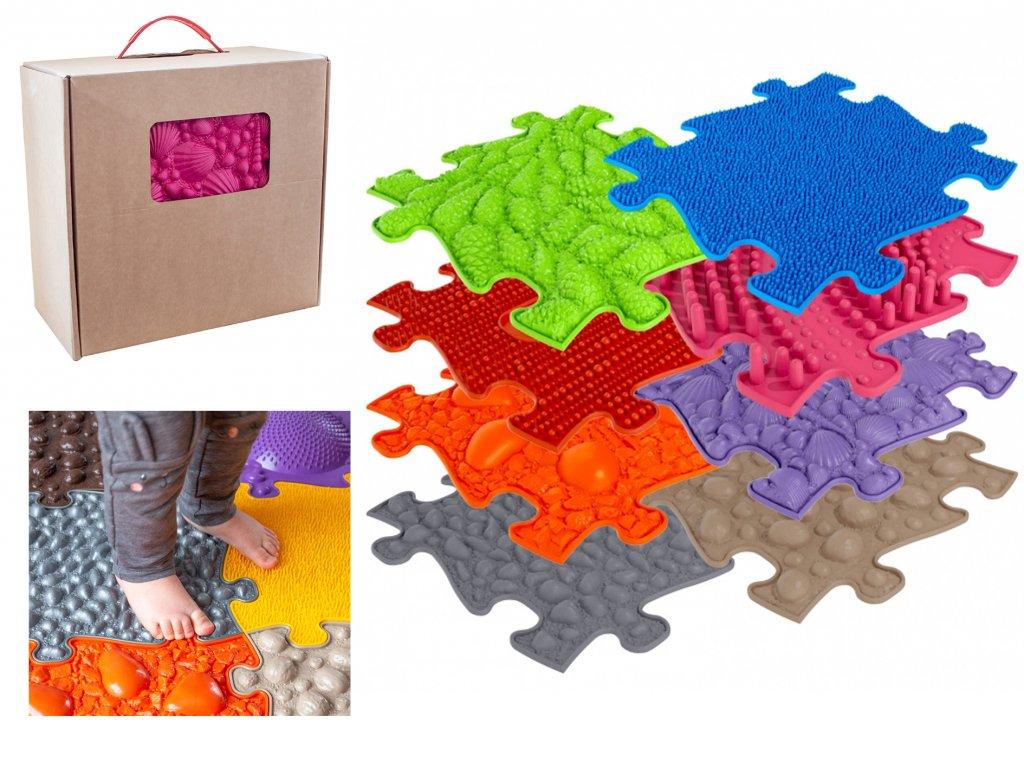 ASKA Senzomotorický koberec pre deti set 8 ks puzzle (1)
