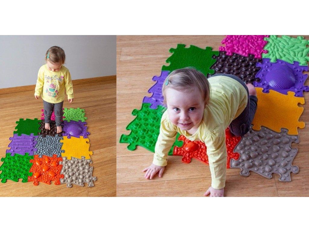 ASKA Senzomotorický koberec pre deti HUGE 13 ks puzzle (3)