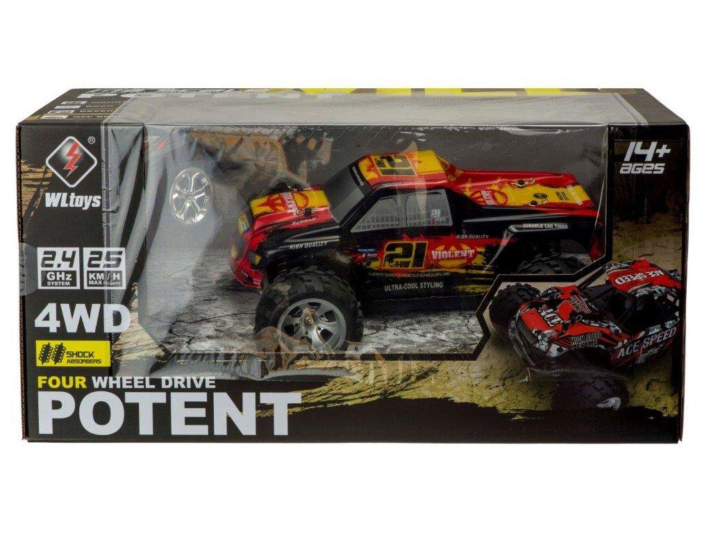 RC WLTOYS POTENT Violent 4WD 118 maly pretekar orava hracky hrackaren rc modely auta na diaľkové ovládanie (11)