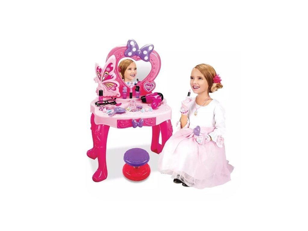 Kozmetický stolík so zrkadlom, stoličkou, zvukmi a svetlami LITTLE PRINCESS (6)