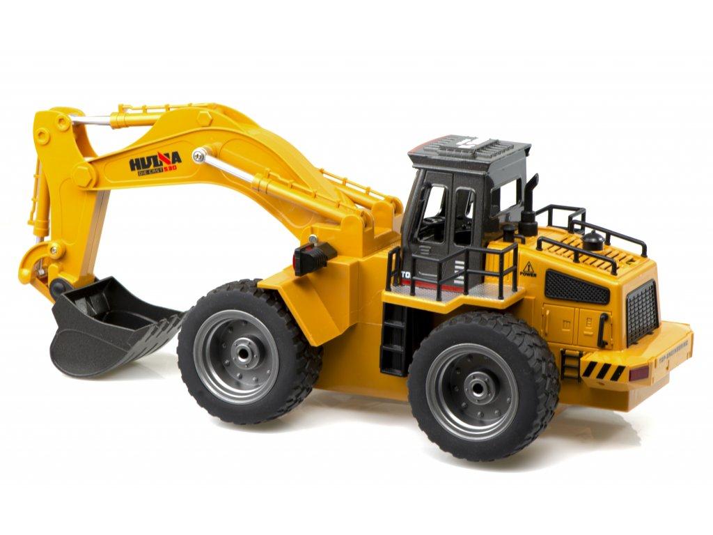 RC H Toys Kolesový Bager 1530 118 malypretekar RC modely RC stevbne vozidla bager kolesovy hracky pre deti a dospelých liesek hracky hrackare (3)
