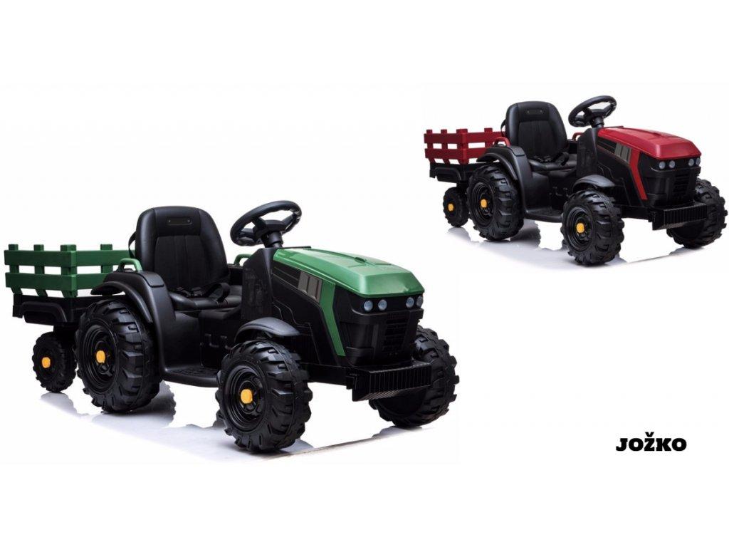 Elektrický traktor s vlečkou JOŽKO traktor pre deti šliapací traktor na pedále elektrický traktor traktor na batériu (1)