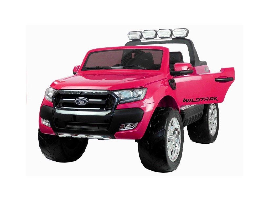 Ford Ranger Elektrické autíčko WILDTRACK 4x4 lakované penové kolieska ružové autíčko pre dievča (3)