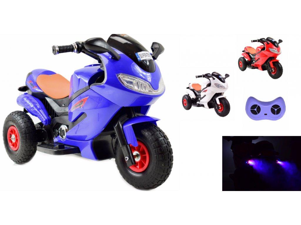SUPER TOYS Elektrická motorka BANDIT diaľkové ovládanie 2,4 GHz nafukovacie kolesá 01