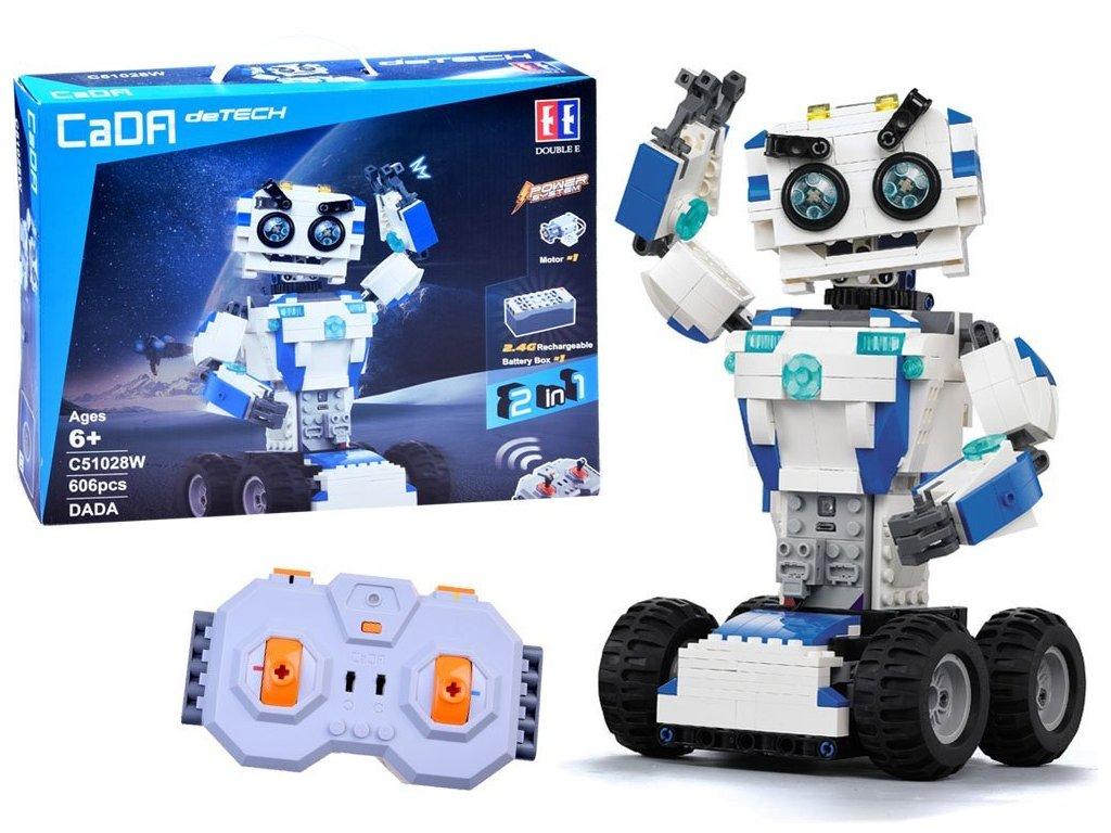 RC CADA TECHNIC Robot DADA 606 kusov dielov malypretekar lego stavebnica 2,4 GHz rc modely liesek hrackarstvo (2)