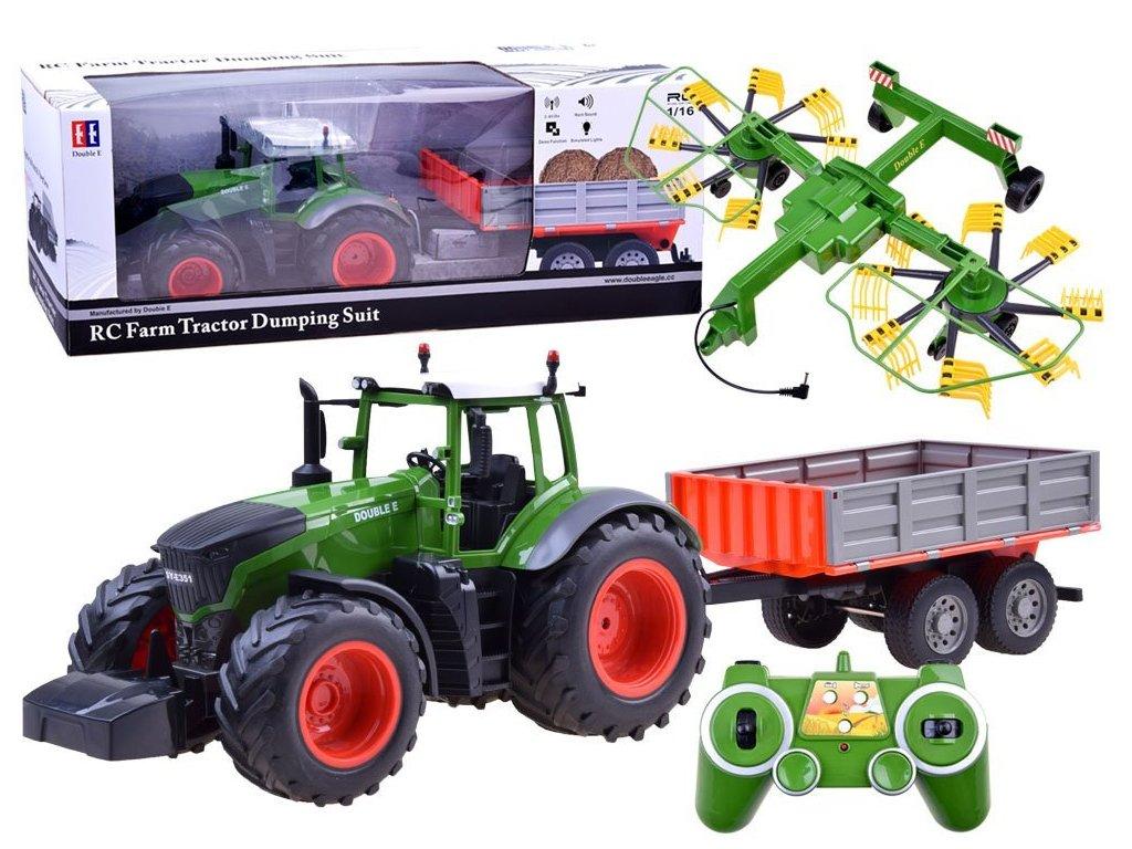 RC Double E Farm Tractor Dumping Suit RAKE 116 malypretekar liesek hracky hrackarstvo (1)