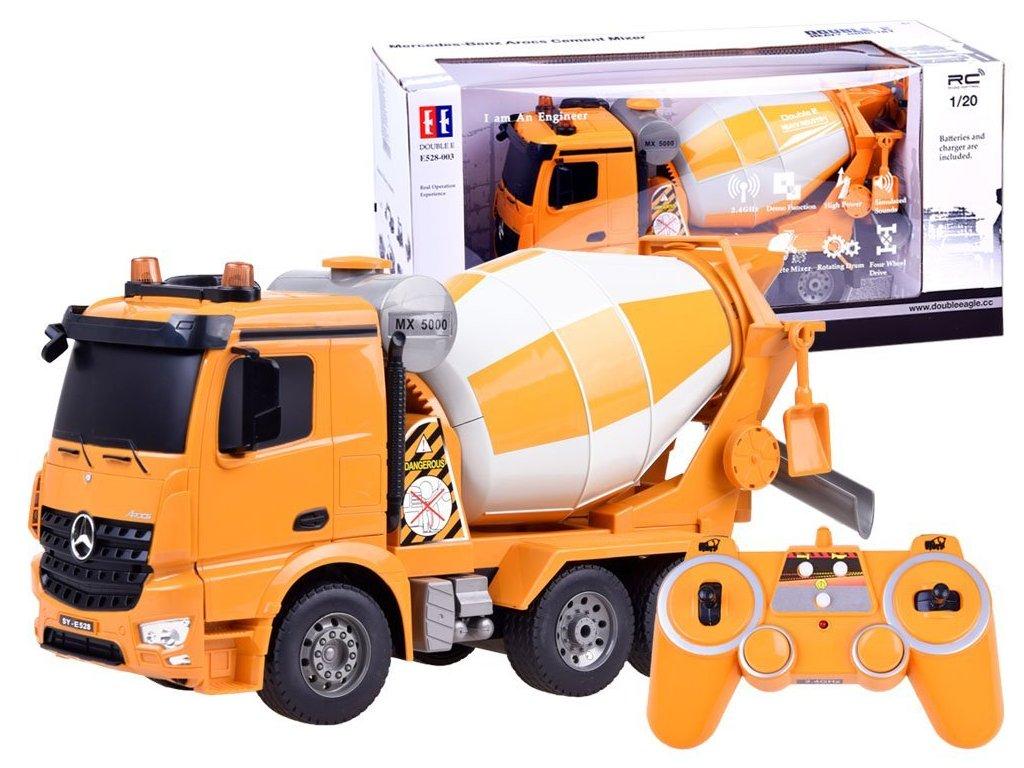RC Double E Mercedes Benz Acros Cement Mixer 120 malypretekar liesek hrackarstvo domiešavač (1)