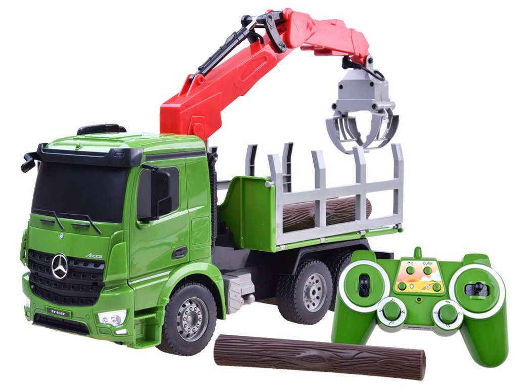 RC Double E Mercedes Benz Arocs Crane Truck 120 malypretekar tatra s hydraulickou rukou hracky hrackarstvo liesek (1)