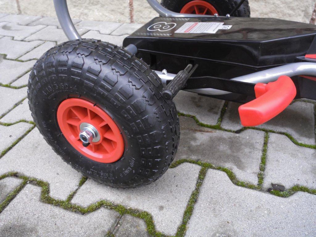 Šľapacia kára G5 malypretekar červená modrá hračky športové potreby 01