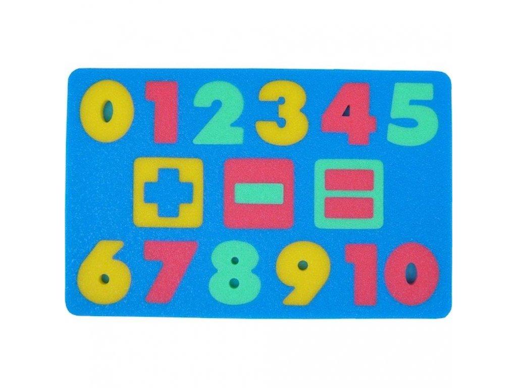 Penová tabuľka Čísla malypretekar sčítanie odčítanie číslice od 0 do 10 znamienko + a =