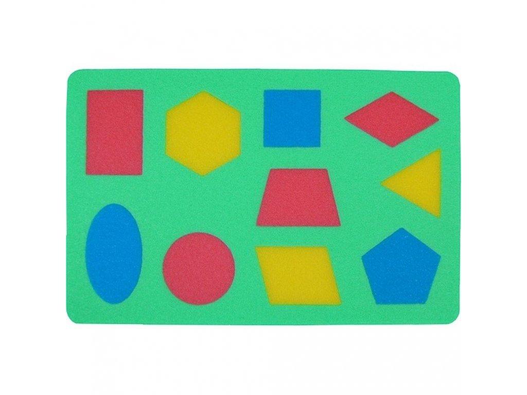 Penová tabuľka Geometrické tvary malypretekar penové hračky pre detičky