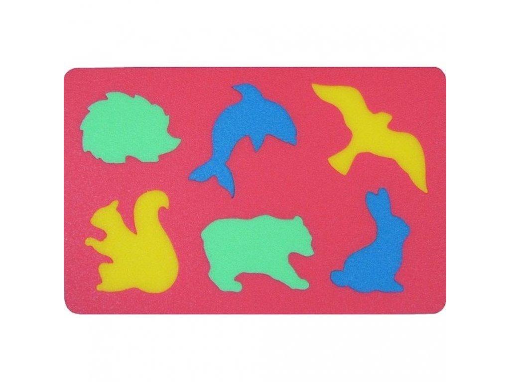 Penová tabuľka Zvieratá malypretekar liesek penové hračky liesek penové puzzle