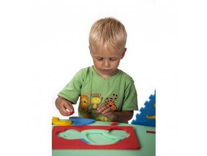 Penová stavebnica Autíčko 2D malypretekar penové hračky didaktické hračky