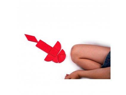Penový Tangram Lístok maypretekar liesek hračkárstvo didaktické hry rozvoj dieťaťa (2)