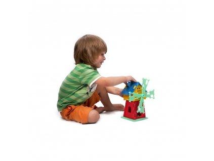 Penová stavebnica Mlyn 3D malypretekar didaktické hry didakticke hračky penove hračky hrackarstvo rozvoj dieťaťa 1