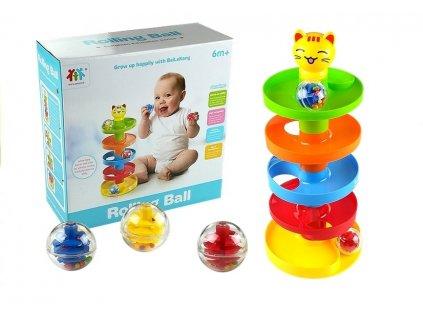 Roll Ball vzdelácacia hračka pre batoľatá MalyPretekar liesek orava hračkárstvo guľôčková trať (1)