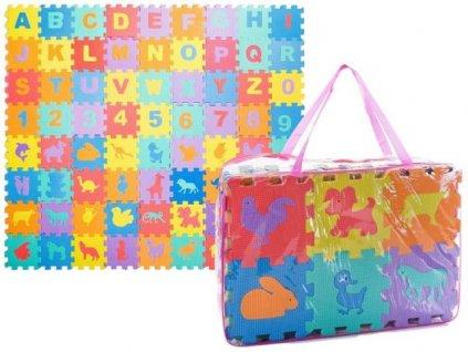 Detské penové puzzle detský koberec malypretekar 72 kusov dielikov liesek orava hracka darček pre dieťa