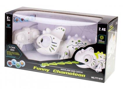 RC LED Inteligentný Chameleón malypretekar chameleon na diaľkove ovládanie RC jašterička RC zvieratko interaktívn rc hračky 6 (8)