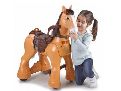Elektrický koník MY WILD HORSE 12V FEBER malypretekar hnedý kôn na batériu (2)