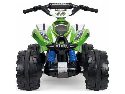 Injusa Elektrická štvorkolka Kawasaki AVT 12 V malypretekar do 25 kg 6 km h maximálna rýchlosť tlmiče prednej nápravy (4)