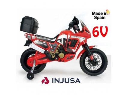 Injusa Elektrická motorka Honda 6V malypretekar rýchlosť až 6 km h do 40 kg (2)