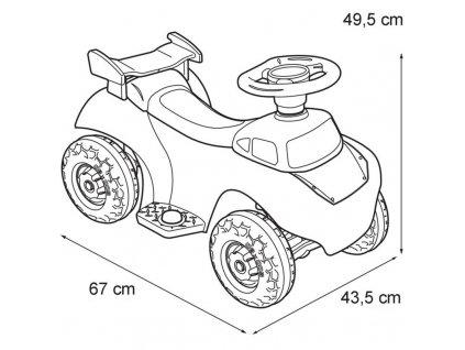 Feber Elektrická štvorkolka Cars McQeen 6V malypretekar do 20 kg (4)