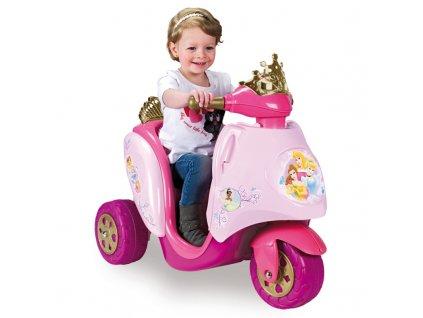 Feber Elektrická motorka Disney Princess 6V malypretekar elektrická trojkolka pre dievčatá (1)