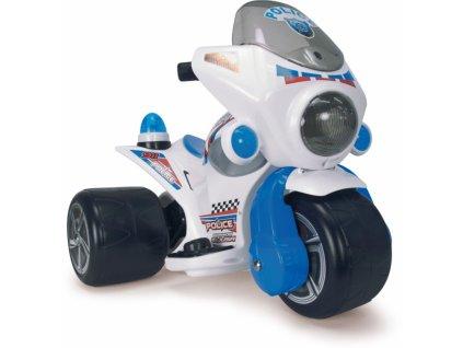 Injusa Elektrická motorka Police 6V malypretekar majáky zvukové efekty (2)