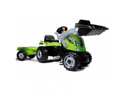 Smoby Traktor na pedále Farmer MAx malypretekar s nakladačom a prívesom (1)
